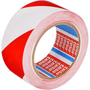 Tesa 60760 Yer İşaretleme İkaz Bandı 50 mm x 33 m Kırmızı / Beyaz Çizgili buyuk 1