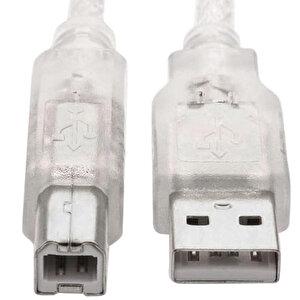 S-Link SL-U2015 USB 2.0 Yazıcı Kablosu Şeffaf 1.5 m