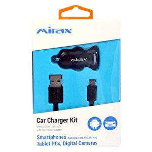 Mirax SDE-1100 Android USB Şarj ve Data Kablosu (Araç Şarj Aparatı Hediyeli) buyuk 2