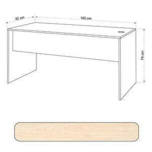 Avansas Comfort Çalışma Masası 160 cm Akçaağaç buyuk 4