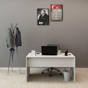Avansas Comfort Çalışma Masası 140 cm Beyaz buyuk 2