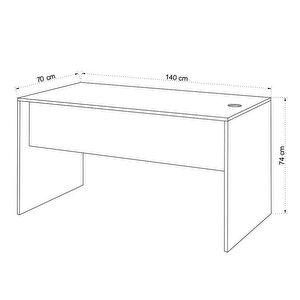 Avansas Comfort Çalışma Masası 140 cm Beyaz buyuk 4