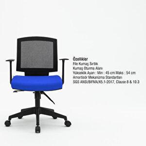 Avansas Comfort Reks Çalışma Koltuğu Mavi buyuk 4