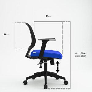 Avansas Comfort Reks Çalışma Koltuğu Mavi buyuk 5