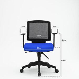 Avansas Comfort Reks Çalışma Koltuğu Mavi buyuk 6