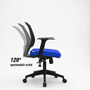 Avansas Comfort Reks Çalışma Koltuğu Mavi buyuk 8