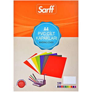 Sarff Cilt Kapağı Pvc 160 Mikron Şeffaf A4 100'lü Paket buyuk 1