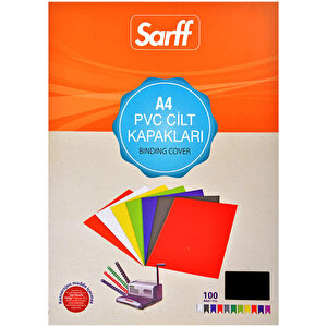 Sarff Cilt Kapağı Pvc 160 Mikron Siyah A4 100'lü Paket buyuk 1