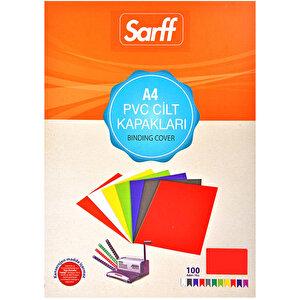 Sarff Cilt Kapağı Pvc 160 Mikron Kırmızı A4 100'lü Paket buyuk 1