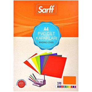 Sarff Cilt Kapağı Pvc 160 Mikron Turuncu A4 100'lü Paket