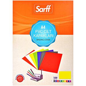 Sarff Cilt Kapağı Pvc 160 Mikron Sarı A4 100'lü Paket buyuk 1