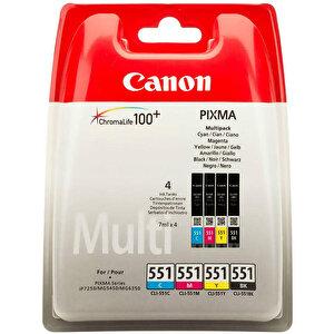 Canon CLI-551CMYBK Multipack 4 Renk Kartuş buyuk 1
