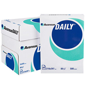 Avansas Daily A4 Fotokopi Kağıdı 80 gr 1 Koli (5 Paket) buyuk 1