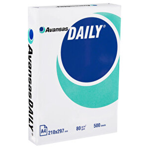 Avansas Daily A4 Fotokopi Kağıdı 80 gr 1 Koli (5 Paket) buyuk 2