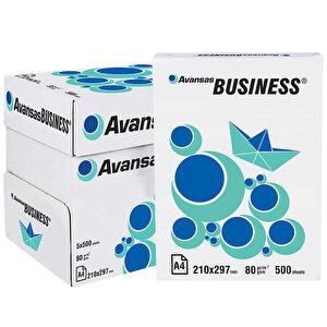 Avansas Business A4 Fotokopi Kağıdı 80 gr 1 Koli (5 Paket) buyuk 1