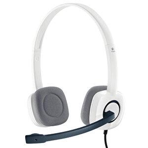 Logitech H150 Coconut Stereo Mikrofonlu Kulaklık Beyaz buyuk 1