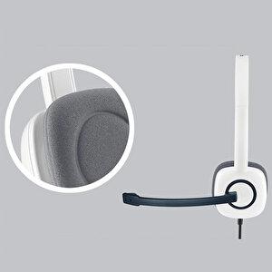 Logitech H150 Coconut Stereo Mikrofonlu Kulaklık Beyaz buyuk 4