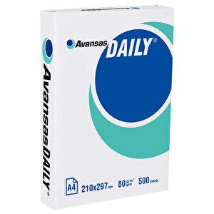 Avansas Daily A4 Fotokopi Kağıdı 80 gr 1 Paket (500 yaprak)