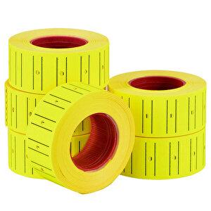 Tanex Motex Çizgili Sarı 12 mm x 21 mm Fiyat Etiketi 24'lü Paket buyuk 3