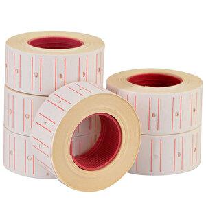 Tanex Motex Çizgili Beyaz 12 mm x 21 mm Fiyat Etiketi 24'lü Paket