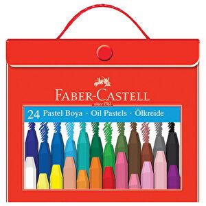 Faber Castell 125124-5 Pastel Boya Plastik Çantalı Tutuculu 24 Renk buyuk 1
