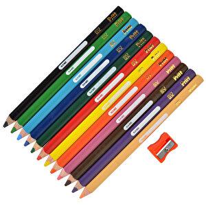 Pritt Jumbo Kuru Boya Kalemi Üçgen Karışık Renk 12'li Paket buyuk 1