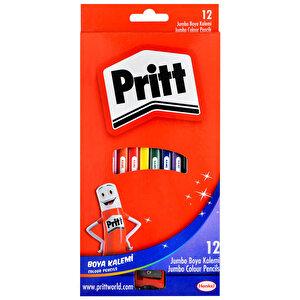 Pritt Jumbo Kuru Boya Kalemi Üçgen Karışık Renk 12'li Paket buyuk 2