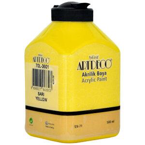 Art Deco Akrilik Boya Sarı 500 ml buyuk 2