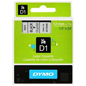 Dymo 45010 D1 Yedek Şerit 12 mm x 7 m Şeffaf / Siyah buyuk 2