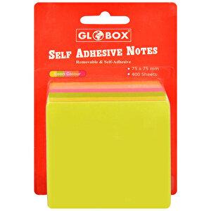 Globox Yapışkanlı Not Kağıdı 75 mm x 75 mm Neon Renkler 400 Yaprak buyuk 2