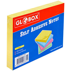Globox Yapışkanlı Not Kağıdı 75 mm x 100 mm Sarı 100 Yaprak buyuk 1