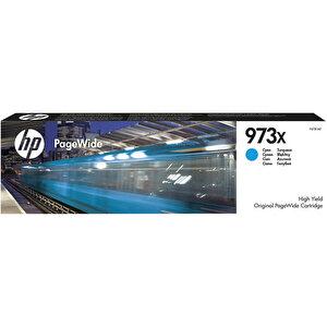 HP 973X Yüksek Kapasiteli Pagewide Mavi (Cyan) Kartuş F6T81AE buyuk 1