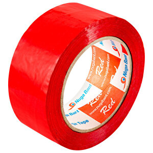 Nuga Hotmelt Koli Bandı 45 mm x 100 m Baskılı Kırmızı 6'lı Paket