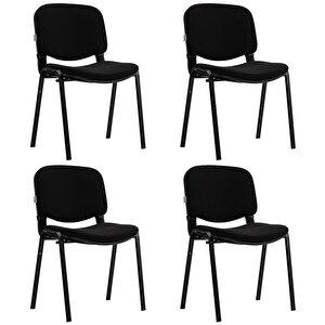 Avansas Comfort Çok Amaçlı 4'lü Misafir Sandalyesi Siyah