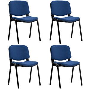 Avansas Comfort Çok Amaçlı 4'lü Misafir Sandalyesi Mavi buyuk 1