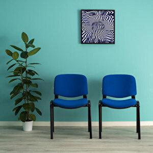 Avansas Comfort Çok Amaçlı 4'lü Misafir Sandalyesi Mavi buyuk 2