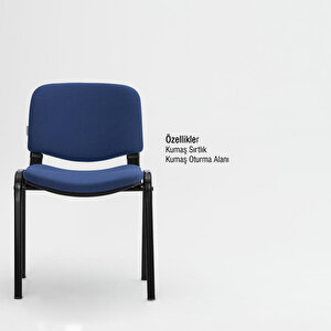Avansas Comfort Çok Amaçlı 4'lü Misafir Sandalyesi Mavi buyuk 3