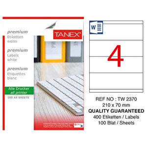Tanex Tw-2370 Lazer Etiket 210 mm x 70 mm buyuk 1