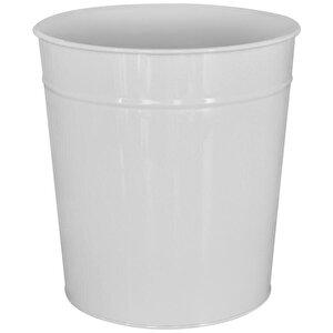 Avansas Metal Deliksiz Çöp Kovası Beyaz 11 lt buyuk 1