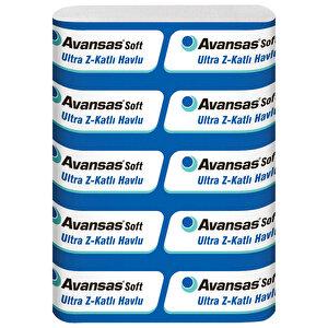 Avansas Soft Ultra Z Katlama Kağıt Havlu 23 cm x 24 cm 1 Koli (12 Paket) buyuk 1