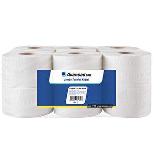 Avansas Soft Jumbo Tuvalet Kağıdı 5 kg 125 m 12'li Paket