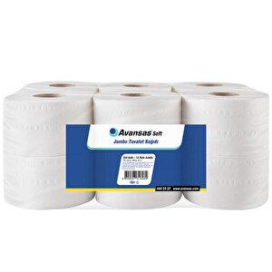 Avansas Soft Jumbo Tuvalet Kağıdı 3,39 kg 90 m 12'li Paket