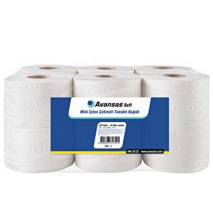 Avansas Soft Mini İçten Çekmeli Tuvalet Kağıdı 12'li Paket buyuk 1