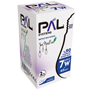 Pal Systems 7 W 6500K Beyaz Işık LED Ampul