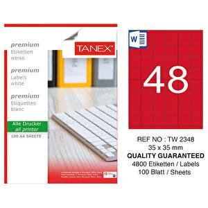 Tanex Tw-2348 Kırmızı Etiket 35 mm x 35 mm buyuk 1