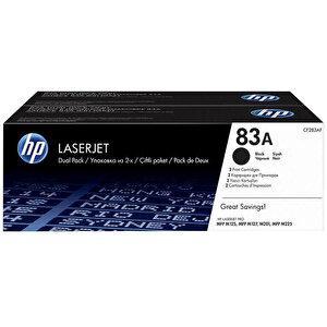 HP 83A 2'li Paket Siyah Toner CF283AF