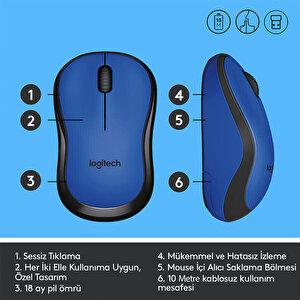 Logitech M220 Silent Kablosuz Mouse Mavi 910-004879