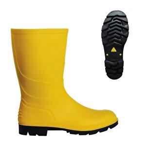 PVC Kısa Çizme Sarı No:44