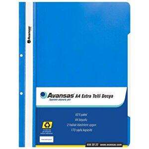 Avansas Extra Telli Dosya Mavi 50'li Paket