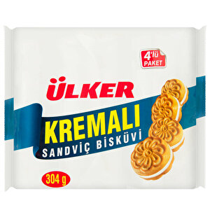 Ülker Kremalı Sandviç Bisküvi 61 gr 4'lü Paket